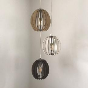 3 træpendler. Eglo Cossano/stellato.  Ø = 19 cm