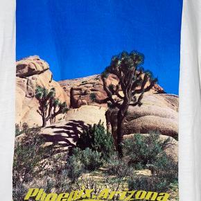 Flot t-shirt fra Zara med print. T-shirten er brugt men ikke slidt.  T-shirten består af 100% bomuld.  - Røgfrit & dyrefrit hjem - Køber betaler fragt - Bytter ikke  Spørg endelig for flere informationer eller billeder😇