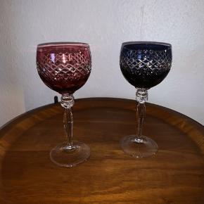 2 stk bøhmiske glas , 19,5 cm høje   225kr pr, stk,   Til salg på flere sider