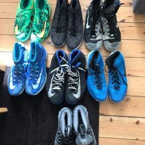 7 basketball sko. Der er dsv ikke sål. De er forskellig størrelser så skriv en privat besked for mere info