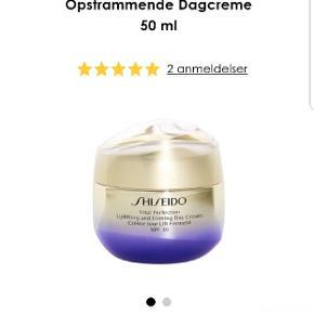 Shiseido Vital Perfection opstrammende dagcreme med 30 spf, 50 ml.   Jeg har fået den i gave, men der var desværre ikke byttemærke på, derfor sælges den. Ny pris er 955 kr i Matas