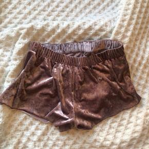 velvet pyjama shorts