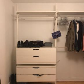 STOLMEN IKEA garderobe system.  Det hele sælges samlet for 400 kr. afhentes på Amager.