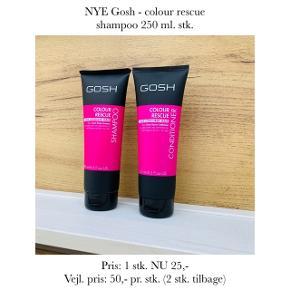 NYE Gosh - colour rescue shampoo 250 ml. stk.   Pris: 1 stk. NU 25,-  Vejl. pris: 50,- pr. stk. (2 stk. tilbage)