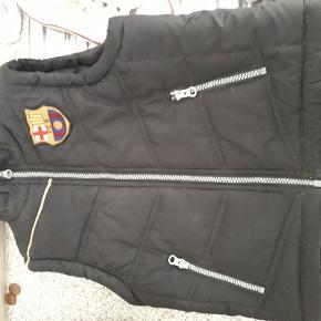 FC barcelona vest sort med lille logo på bryst