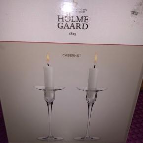To lysestager fra Holmegaard Måler 16 cm