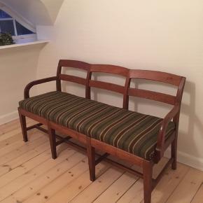 Unik og sjælden gammel retro sofa/bænk. Betræk som nyt. Bytter ikke