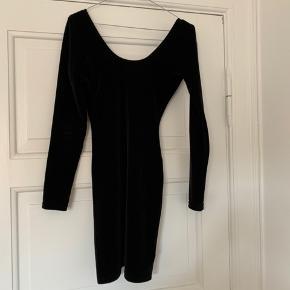 Velvet dress with open back