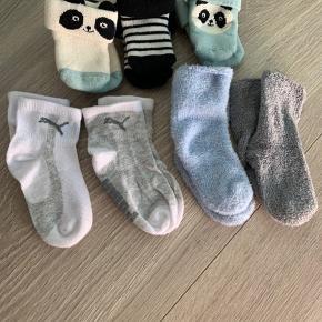 Sokker fra Puma og h&m i forskellige str. Helt fra nyfødt til str 18