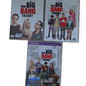 Big Bang Theory sæson 1-3.   ALLE FOR 100KR IALT.   Disc 3 i sæson 3 har ridser, men har ikke oplevet problemer med at afspille den.   Kom gerne med et bud!  Sender gerne - dog på købers egen regning.  #SE MINE MANGE ANDRE ANNONCER#