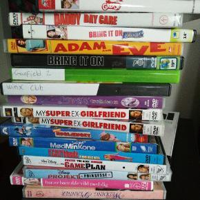 Diverse dvd film, 5 kr. Pr. Stk. Kan afhentes i Horsens, Esbjerg eller på Nørrebro.
