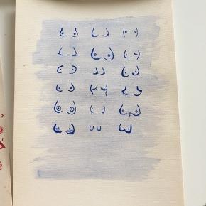 Fin plakat / maleri af bryster. Malet med vandfarver på A4 i konge blå  Billedet findes også i lyserød på min profil🙂  Skriv endelig hvis du ønsker at få malet noget bestemt