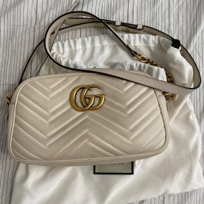 Gucci marmont crossbody- small Back part of the bag has color transfer but otherwise front part looks fine and inside lining is clean and no major stains/marks Request for more photos, fixed price. Includes receipt and dustbag.