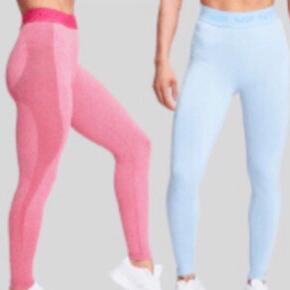 Samlet pris: 350,- Pr stk: 200,-  Limited edition tights fra MyProtein sælges. De blå er brugt en enkelt gang og de pink er kun prøvet på ☺️