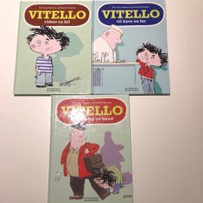 Vitello bøger  Samlet pris  Vitello ridser en bil Vitello vil have en far Vitello ønsker sig en hund