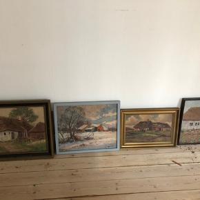 Malerier af Niels Martoft 100kr pr maleri