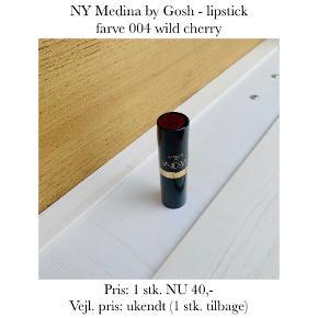 NY Medina by Gosh - lipstick farve 004 wild cherry  Pris: 1 stk. NU 40,-  Vejl. pris: ukendt (1 stk. tilbage)   Se også over 200 andre nye produkter, som jeg har til salg herinde :-)