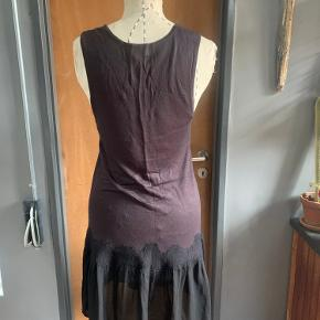 Fun dropped waist dress from H&M Trend department. Bottom part is silk, and the detail is a wool feel, so many nice textures.