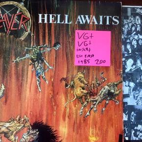 Slayer Hell awaits vinyl lp plade fin stand med insert