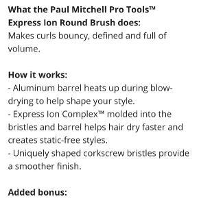Paul Mitchell Pro Tools Express Ion Round Brush - Large   • Str Large   Søgeord: rundbørste, hårbørste, føntørre, styling brush,
