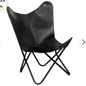 Sælger den populære flagermus stol i ægte læder! Aldrig brugt, blot samlet