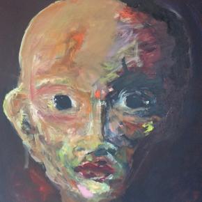 Oliemaleri af kunstneren Berit Kyed, mål 105 x 105.
