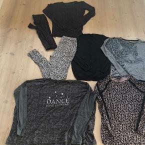 Tøjpakke kun bestående af tøj fra Sofie Schnoor. I str.14år/164,   1 sæt af bluse og leggins i blød kvalitet med stretch.  Brugt 1 gang  1 par bux med elastik i livet, blød kvalitet. God men brugt.  1 cardigan i sort med brunlig glimmer i. Aldrig brugt.  1 bluse med Tiger.  Aldrig brugt.  1 overzize bluse i meget let og blød kvalitet.  Brugt 1 gang.  1 bluse i leopard med sorte bånd.  Aldrig brugt.  7 stk rigtig fint tøj hvoraf flere dele er nye, til en rigtig god og billig pris.