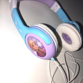 Elsa og Anna børne hovedtelefoner, blå og lilla, 3-6 år, de kan udvides