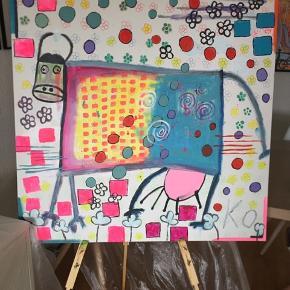 Sælger mit maleri.  100x100 cm.