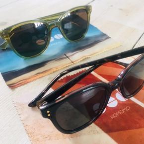 UBRUGTE komono solbriller.  Renee model (unisex) Nypris 400 kr stk Bytter ikke