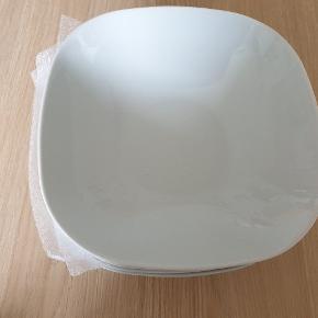 6 stk. Helt nye dybe tallerkener/skåle fra IKEA.
