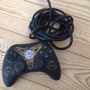 Playstation Controller. brugt. Mangler ledning 100 kr Den koster 500 fra nye