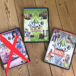 Sælger disse to Sims3 spil