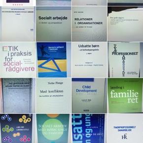 Studiebøger til hele socialrådgiver uddannelsen. Sendes elektronik over mail.   1 for 35 kr.  2 for 60 kr.  4 for 100 kr.   Spørg gerne for yderligere litteratur, da jeg har meget. Se også gerne mine andre annoncer.
