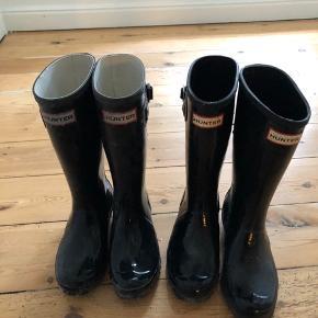 Super fine glossy gummistøvler fra Hunter str 34 brugt meget lidt. De andre er solgt