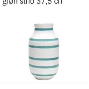 🌱Stor Kähler vase i turkis.  Kun stået til pynt - fejler intet.  Ny pris 499,-  Kan afhentes i Odense sv :)