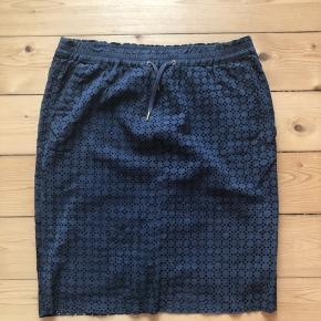 Ruskind  De sidste to billeder viser slitage Kanten på nederdelen er lysere end resten og der er to små pletter foran
