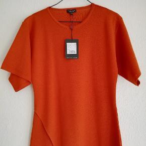 Rust / orange kjole Strikkjole i 100% merino uld