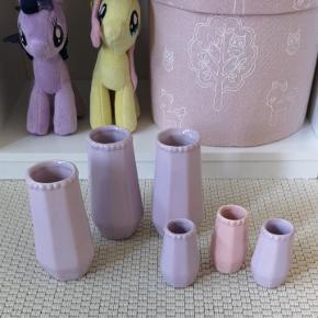 Mini pynte vaser.  Fra røg og dyre frit hjem.