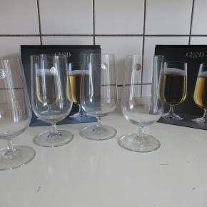 Rosendahl ølglas. 4 stk, brugt ikke.  Ny pris 370 kr  Afhentes i Helsinge eller Lyngby