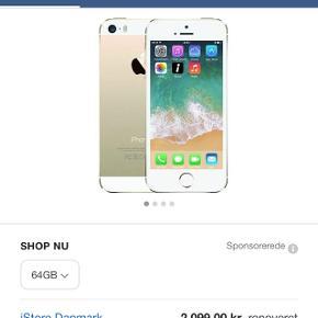 Sælger min iPhone se 64 GB har nogen ridser bag på.  Der følger et panser glas med og to covers + det panser glas som er på