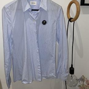 Wood Wood skjorte hvid og blå stribet Aldrig brugt - kom med realistisk bud:)))  #30dayssellout