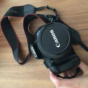 Canon EOS 1100D used but works perfectly. I used it in many trips and selling it only because I have got a new one as a present! It is very practical and easy to use, takes great pictures even if you are not an expert in photography. I also sell a Tamron lens for portraits.