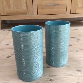 2 turkiske vaser med glimmer 22 cm høje De er i meget flot stand