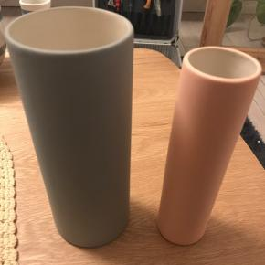 Ferm living vases In pink/peach color and  grey color.  brand new just bought in the fall of 2018