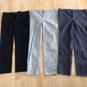 3 par bukser. Stort set ikke brugt, købt for små. De er str 31/31   Har en super god pas form. Sælges for 75,- pr par