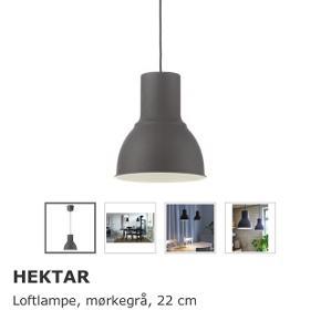 2 stk Hektar lamper fra IKEA. Fremstår som nye. Sælges pga flytning.  Nypris 150kr stykket.  Sælges samlet for 180kr