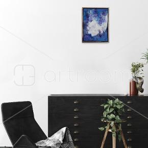 Akrylmaleri på lærred   Måler 30 × 40 cm (34×44 cm i ramme)  Hvis man ønsker det, fås det med ramme uden ekstra beregning. Da den er beskadiget.  Hentes i Roskilde