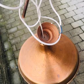 Smuk kobberpendel - kobberlampe - 44 cm i diameter.