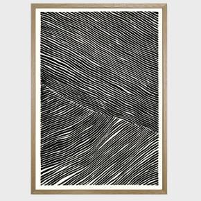 Plakat fra HeinStudio 'The Line Collection' sælges inkl. ramme. Mål: A2 (42x59,4)  Nypris for plakat + ramme: 595 kr.  Min pris til dig: 300 inkl. egetræsramme   Hentes i Ågade, Aalborg.